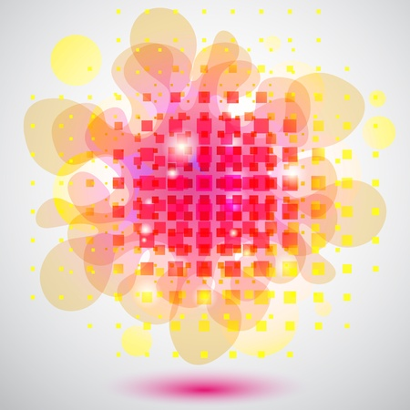 Abstract background with squares and bubbles Stock Vector - 9559330