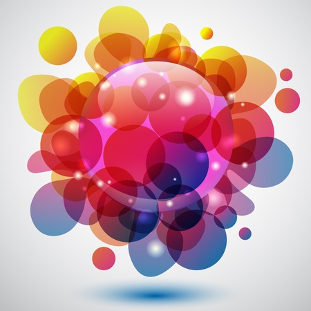 Abstract colorful background with bubble shape Stock Vector - 9600539
