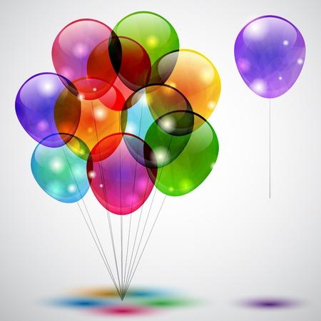 chicos pintando: Fondo multicolor con globos