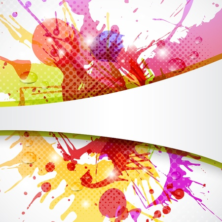 Colorful and abstract background with copy space
