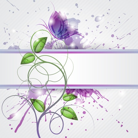 Abstract background with butterfly and copy space
