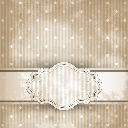 Vintage template frame design for greeting card