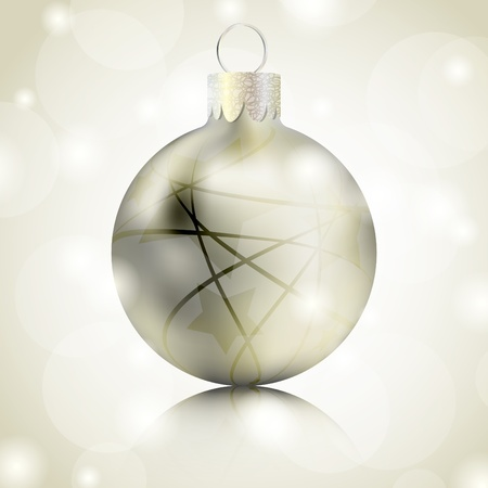 Golden Christmas ball background Stock Vector - 10088345