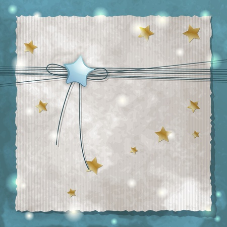 announcement: Template frame design for baby announcement or greeting card