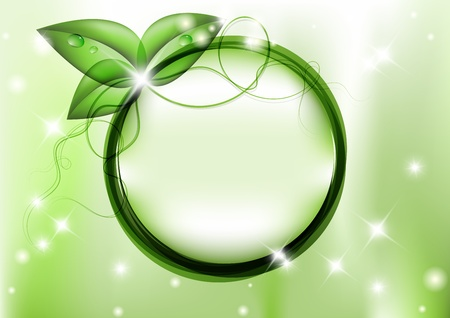 Green background with leafs and copy space Stock Vector - 11229367