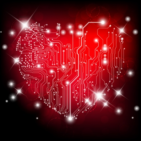 electronic circuit: Valentine Illustration