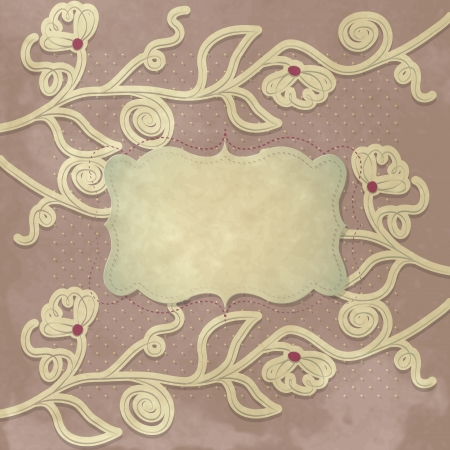 Vintage background with label Vector