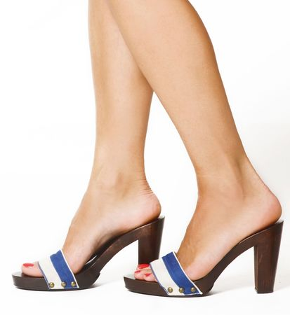 outsole: woman feet