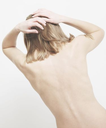 curvature: back of thin woman with curve range