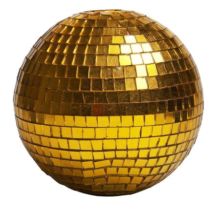 golden discoball (isolated on a white) photo