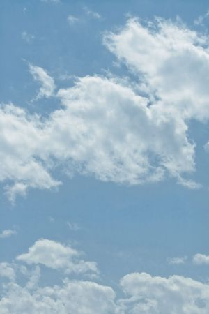 white fluffy clouds in the blue sky Stock Photo - 7452762