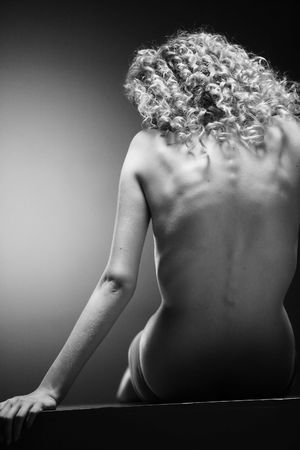 Nude back and body on young female in soft light Stock Photo - 7452761
