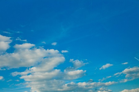 white fluffy clouds in the blue sky Stock Photo - 7860764