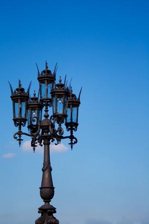 lantern on blue dresden sky photo