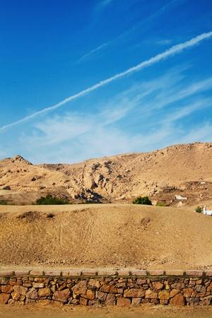 ruins in desert of egypt, africa photo