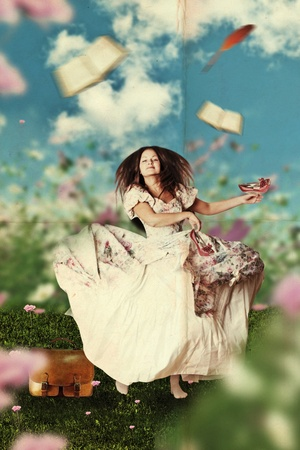 young beauty woman in the meadow Stock Photo - 8408068