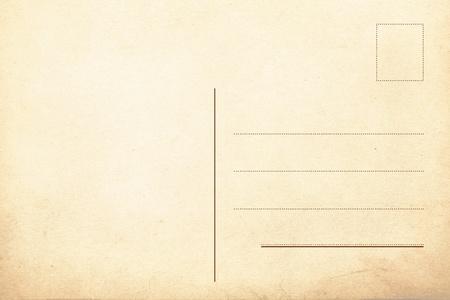 Rückseite des alten Postkarte