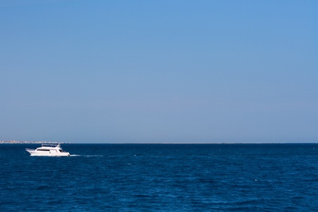 white ship on blue sea Stock Photo - 8541721