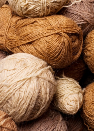 pattern pile of brown yarn photo