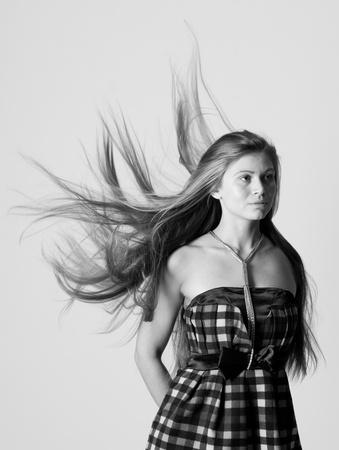 desaturated portrait of beauty woman photo