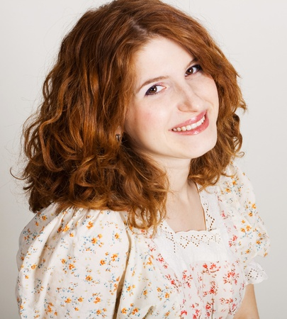 portrait of beauty young redhead woman  photo