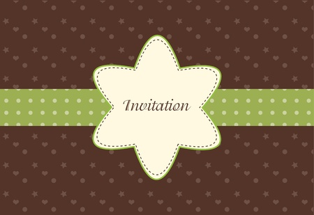 Retro greeting card template design, flower pattern, vintage style, fashion invitation Stock Photo - 9236939