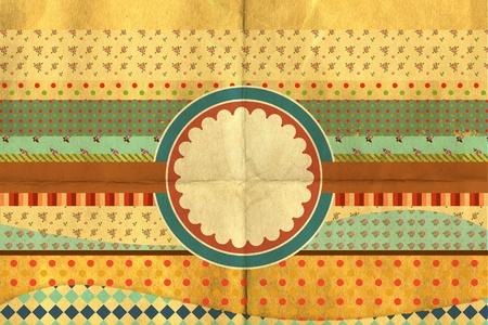 vintage collage, art postcard, paper texture, dirty pattern photo
