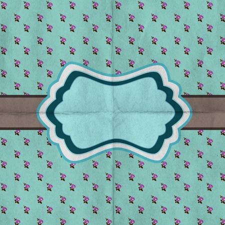 Retro greeting card template design, polka dot pattern, vintage style, fashion invitation Stock Photo - 9398558