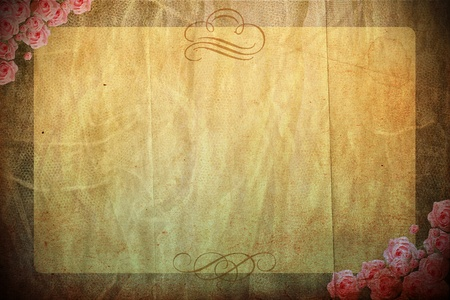 vintage background with spring flowers, rastr photo