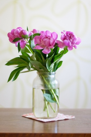 beautiful bouquet of flowers, pink peonies Stock Photo - 9673726