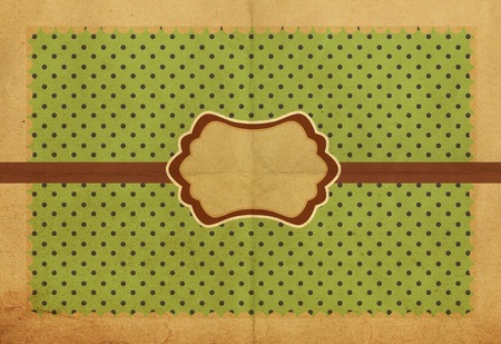 vintage background with spring flowers, grunge paper Stock Photo - 9774048