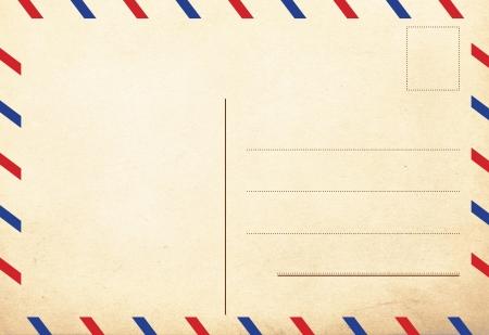 achterkant van de vintage ansichtkaarten, lucht-decor