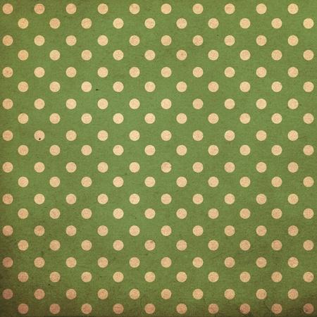 polka dot vintage pattern, green Stock Photo