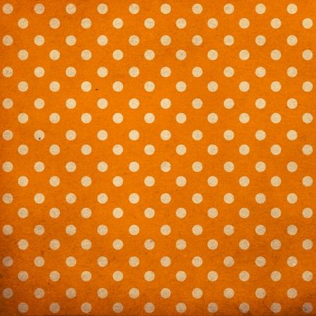 polka dot vintage pattern, orange Stock Photo