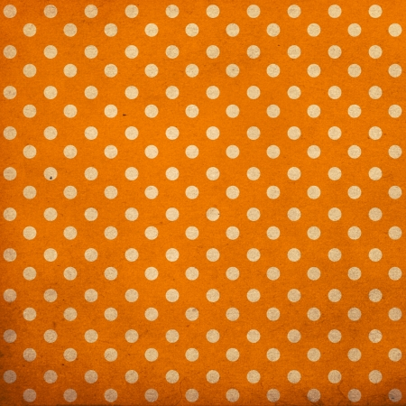 polka dot vintage pattern, orange Stock Photo