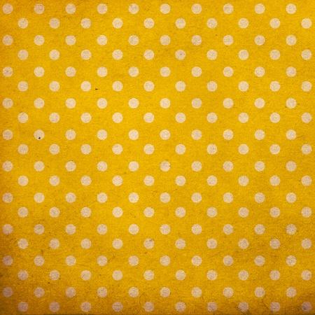 polka dot vintage pattern, yellow Stock Photo - 10343674