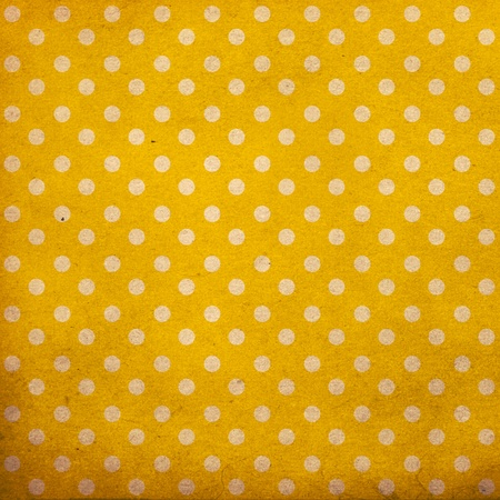 polka dot vintage pattern, yellow