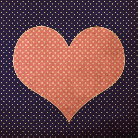hart: vintage background from grunge paper, texture with retro pattern