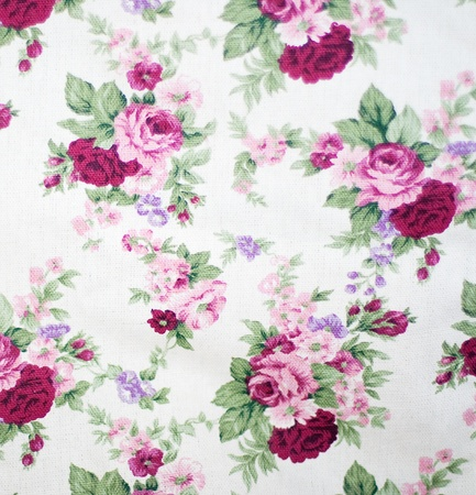 glamour fabric with pink roses, vintage