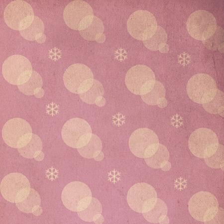vintage pattern with snowflake, art texture photo