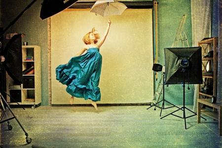 art image with beautiful woman Stock Photo