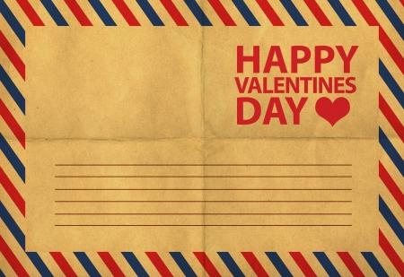 back of vintage postcards, st valentine's postcard Stock Photo - 11974383