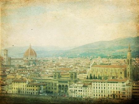 immagine d'epoca con Firenze, Italia