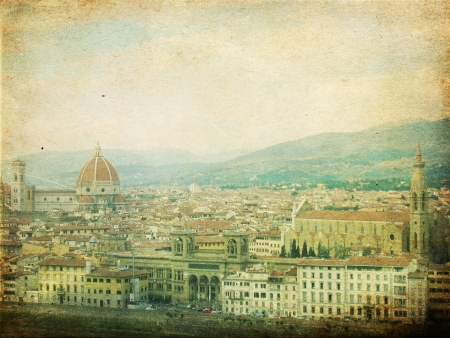 vintage image with florence, italy Stock Photo - 15965933