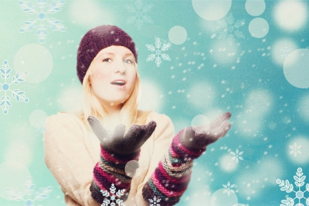 art collage with winter girl Stock Photo - 16545847