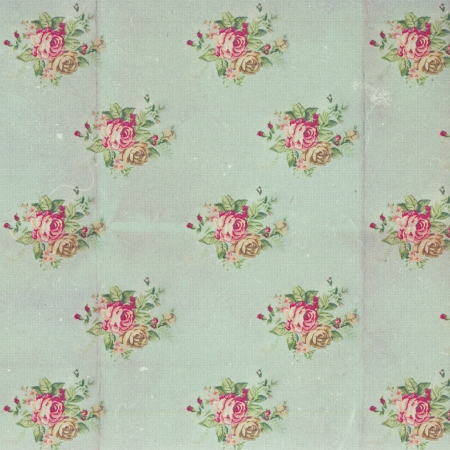 vintage roses: vintage pattern with blue flowers, retro
