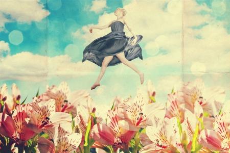 pin up vintage: collage arte con la bella donna, stile retr?, fantasia