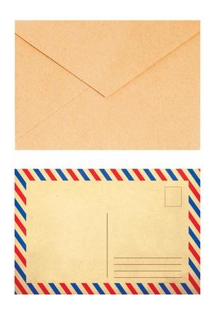 vintage envelope: colorful envelope, vintage style, trend Stock Photo