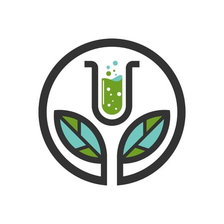 Chemical  tube logo vector