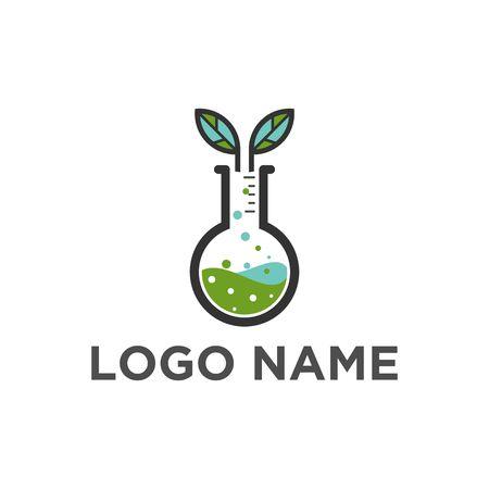 Chemical tube logo vector Illustration